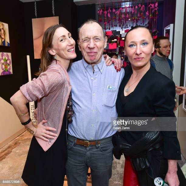 Coco Dolle Anthony HadenGuest and Ange attend Spring Break Art Fair 2017 Vernissage at 4 Times Square on February 28 2017 in New York City