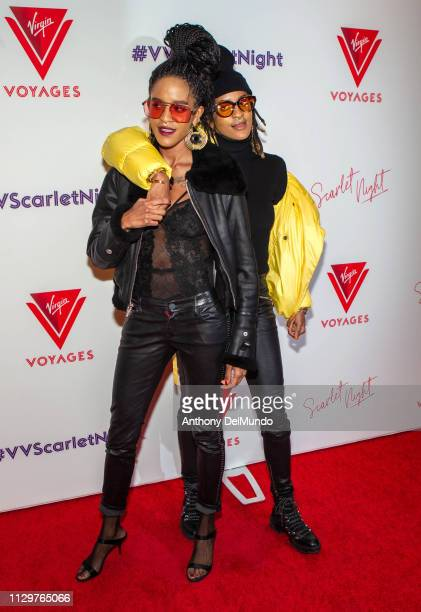 Coco Dotson and Breezy Dotson attend the Scarlet Night Party hosted by Virgin Voyages at PlayStation Theater on February 14 2019 in New York City