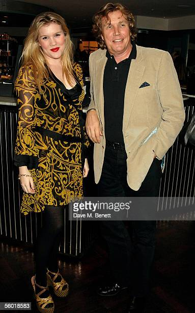 Coco Fennell and Theo Fennell attend a party thrown by Jo Wood to celebrate the launch of the Jo Wood bath bodycare range at Harvey Nichols on...