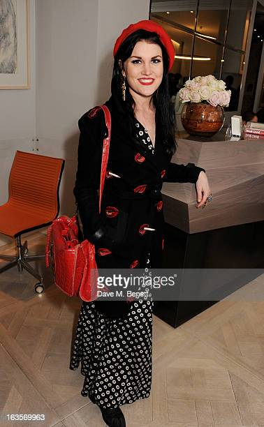 Coco Fennell attends the launch of Louise Fennell's new book 'Fame Game' at Grace Belgravia on March 12 2013 in London England