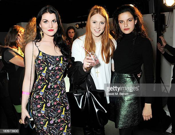 Coco Fennell guest and Evangeline Ling attend the Rimmel London 180 Years of Cool party at the London Film Museum on October 10 2013 in London England