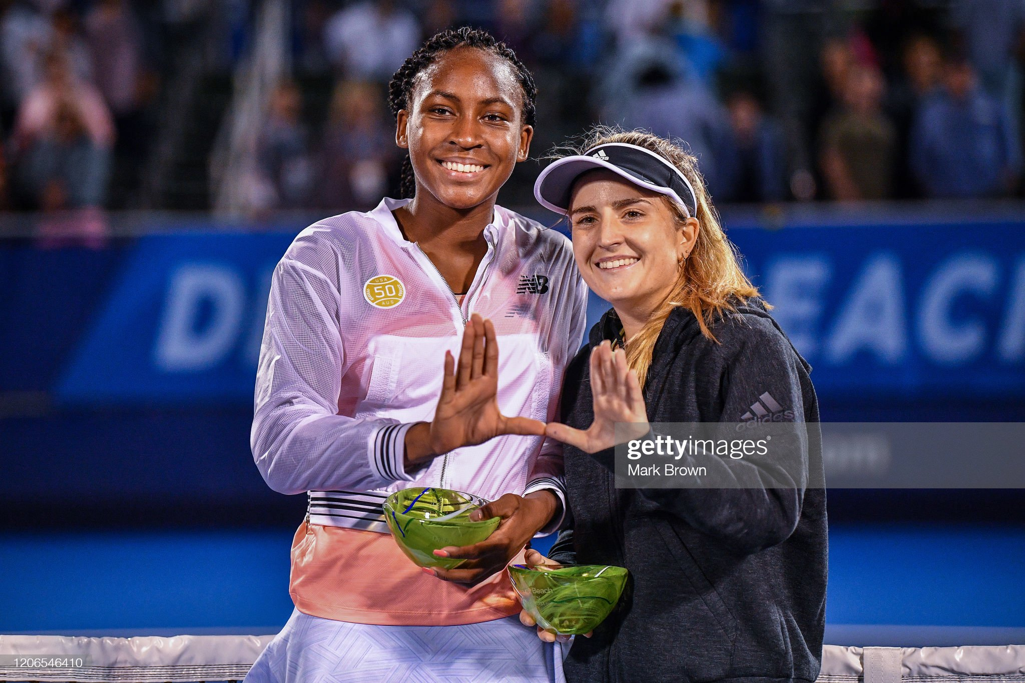 Delray Beach Open Exhibition - Coco Gauff v Estela Perez-Somarriba : News Photo