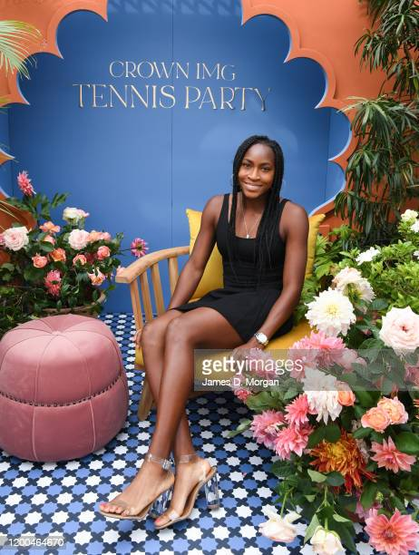 Coco Gauff attends the Crown IMG Tennis Party on January 19, 2020 in Melbourne, Australia.