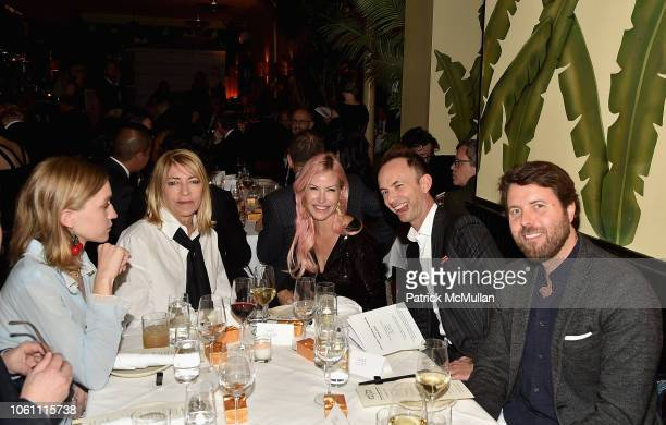 Coco Gordon Moore Kim Gordon Alexa Wolman Shane Elipot and Casey Kelbaugh attend The Andy Warhol Museum's Annual NYC Dinner at Indochine on November...