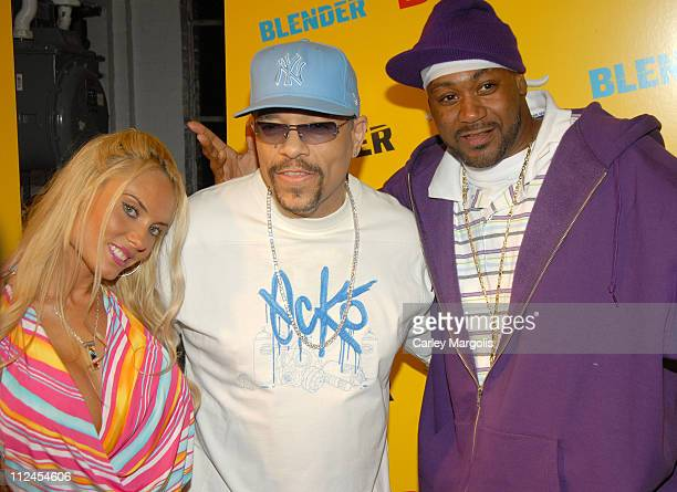 Coco Ice T and Ghostface Killah during Blender Magazine 5th Anniversary Blowout at Studio 450 in New York City New York United States