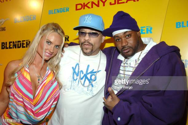 Coco Ice T and Ghostface Killah during DKNY Jeans Presents Blender Magazine's 5th Anniversary Party at Studio 450 in New York City New York United...