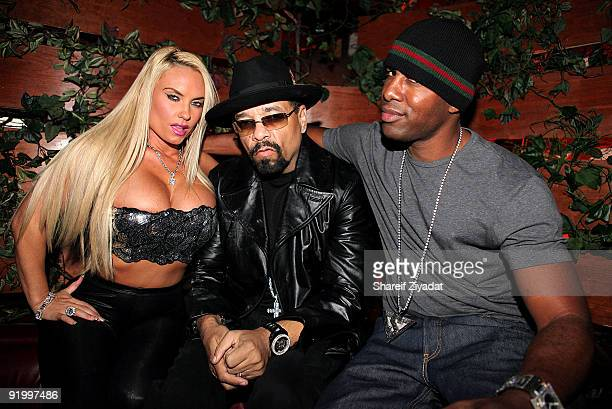 Coco IceT and DJ Whoo Kid attend Dj Whoo Kid's birthday celebration at Pink Elephant on October 18 2009 in New York City