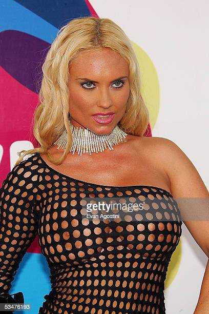 Coco IceT's wife arrives at the 2005 MTV Video Music Awards at the American Airlines Arena on August 28 2005 in Miami Florida