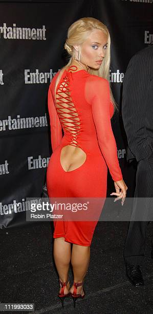 Coco in her own dress design during Entertainment Weekly Oscar Viewing Party at Elaine's Restaurant in New York NY United States