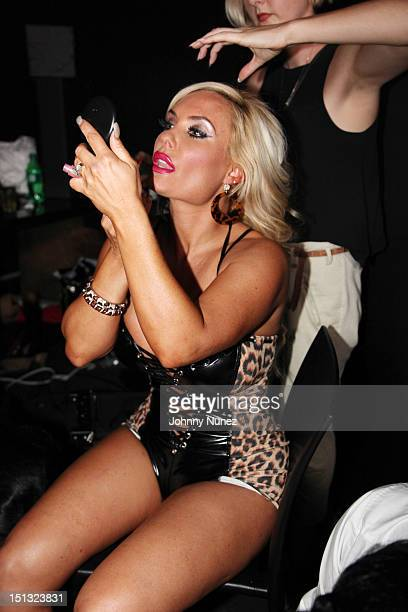 Coco is seen backstage preparing for her Licious Apparel By Coco fashion show during Spring 2013 MercedesBenz Fashion Week at the XL Nightclub on...