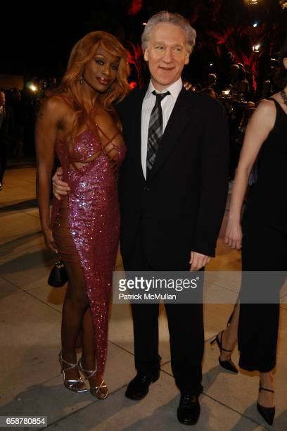 Coco Johnsen and Bill Maher attend the 2004 Vanity Fair Oscar Party at Mortons on February 29 2004 in Beverly Hills California