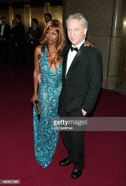 Coco Johnsen and Bill Maher during 2003 Tony Awards at Radio City Music Hall in New York City New York United States