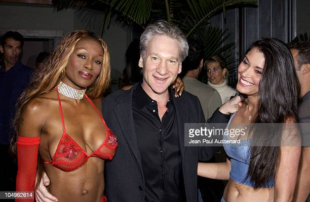 Coco Johnsen Bill Maher and Devin DeVasquez during 3rd Annual Angels on The Fairway Celebrity Golf Tournament Tee Off Party at White Lotus in...