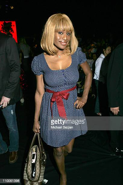 Coco Johnsen during MercedesBenz Fall 2007 LA Fashion Week at Smashbox Ed Hardy in Culver City California United States