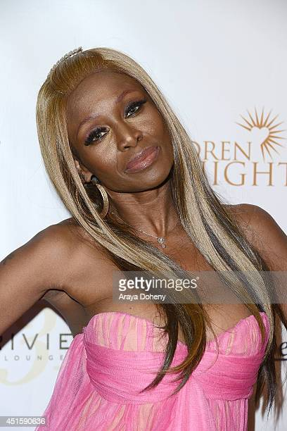 Coco Johnson attends the Children of The Night and BenchWarmer's annual Stars Stripes event on July 1 2014 in Los Angeles California