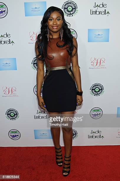 Coco Jones attends the premiere of Grandma's House at Marcus South Shore Cinema on April 2 2016 in Oak Creek Wisconsin