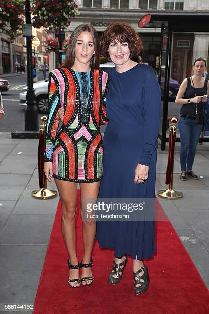 Coco König and Anna Chancellor arrive for the UK Film Premiere of 'The Carer' at Regent Street Cinema on August 5 2016 in London England