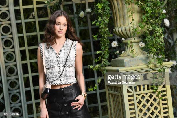 Coco Konig attends the Chanel Haute Couture Spring Summer 2018 show as part of Paris Fashion Week on January 23 2018 in Paris France