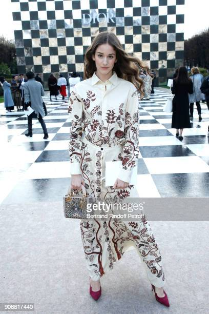 Coco Konig attends the Christian Dior Haute Couture Spring Summer 2018 show as part of Paris Fashion Week on January 22 2018 in Paris France