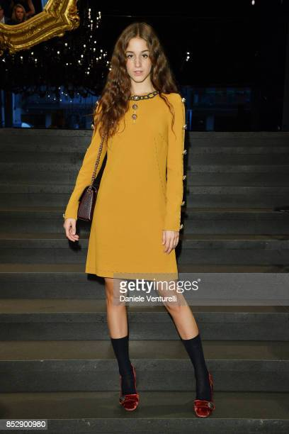 Coco Konig attends the Dolce Gabbana show during Milan Fashion Week Spring/Summer 2018 on September 24 2017 in Milan Italy