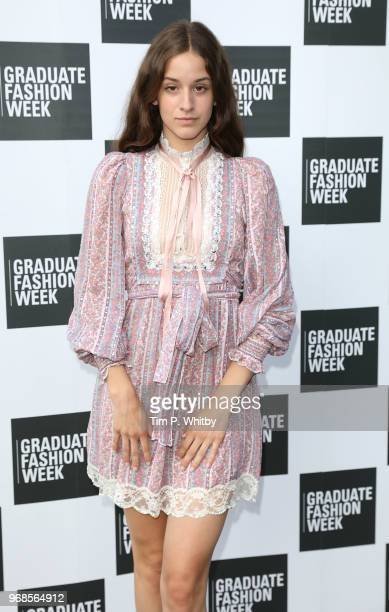 Coco Konig attends the Graduate Fashion Week Gala at The Truman Brewery on June 6 2018 in London England