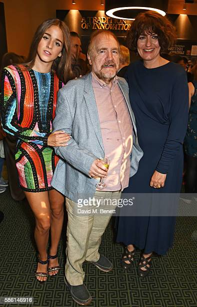 Coco Konig Brian Cox and Anna Chancellor attend the UK Premiere of The Carer at the Regent Street Cinema on August 5 2016 in London England