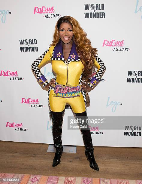 Coco Montrese attends the RuPaul's Drag Race All Stars season two premiere at Crosby Street Hotel on August 23 2016 in New York City