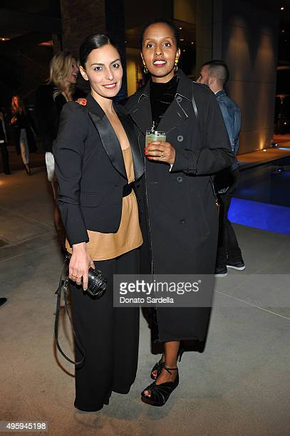Coco Mowinckel and Shamirah Hassan attend a private dinner hosted by Farfetch Erica Pelosini Angelique Soave DJ Kiss to celebrate Farfetch in LA on...