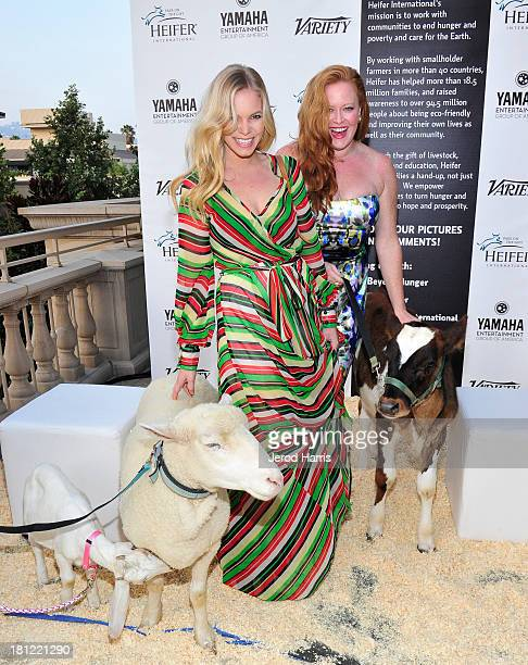 """Coco Quinn and Arielle Yuspeh attend Heifer International's 2nd Annual """"Beyond Hunger: A Place at the Table"""" to Help End World Hunger and Poverty at..."""