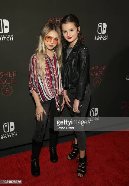 Coco Quinn and Hayley LeBlanc attend Asher Angel's 16th Birthday Party Celebration at Blind Dragon on October 28, 2018 in West Hollywood, California.