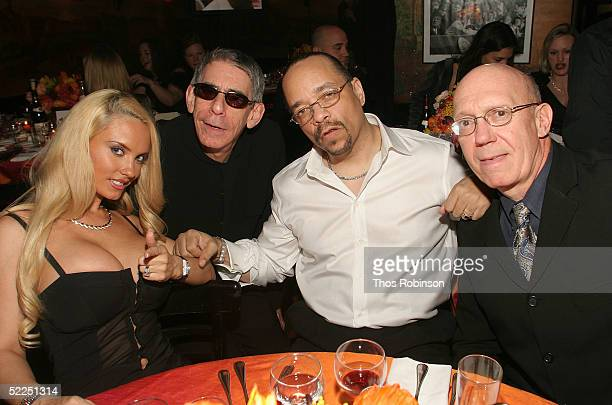 Coco , Richard Belzer, Ice-T and Dan Florek attend Entertainment Weekly's Oscar Viewing Party at Elaine's February 27, 2005 in New York City.