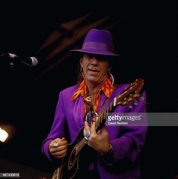 Coco Robicheaux on stage at New Orleans Jazz Festival, 1997.