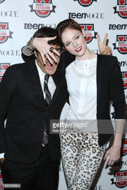 Coco Rocha and Andrew Bevan attend the 8th Annual Teen Vogue University on October 19 2013 in New York City
