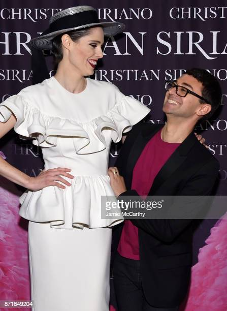 Coco Rocha and Christian Siriano celebrate the release of his book 'Dresses To Dream About' at the Rizzoli Flagship Store on November 8 2017 in New...