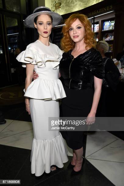 Coco Rocha and Christina Hendricks attend Christian Siriano celebrates the release of his book 'Dresses To Dream About' at the Rizzoli Flagship Store...