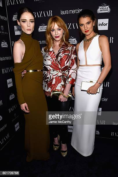 "Coco Rocha and Christina Hendricks attend Harper's Bazaar's celebration of ""ICONS By Carine Roitfeld"" presented by Infor, Laura Mercier, and Stella..."