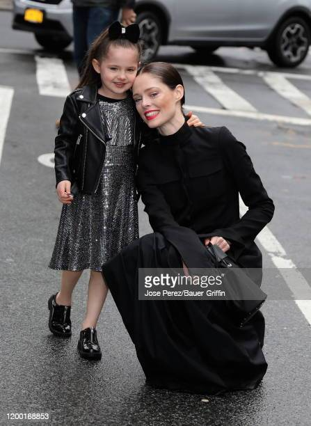 Coco Rocha and daughter Loni Conran are seen on February 11 2020 in New York City