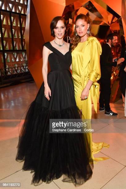 Coco Rocha and Doutzen Kroes attend the Piaget Sunlight Escape Paris 2018 High Jewellery Collection Party at Palais d'Iena on June 18 2018 in Paris...