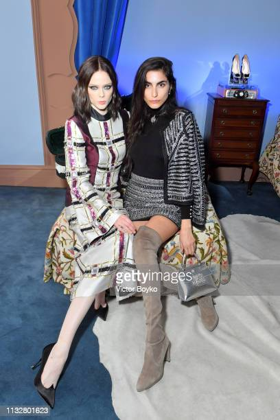 Coco Rocha and Farnoush Hamidian attend the Day Dream Vivier Press Day during Paris Fashion Week Womenswear Fall/Winter 2019/2020 at Fondation Cino...
