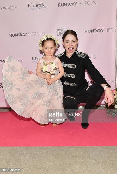 Coco Rocha and her daughter Ioni James Conran attend Runway Heroes to Benefit Childhood Cancer Research at Kleinfeld on December 10 2018 in New York...