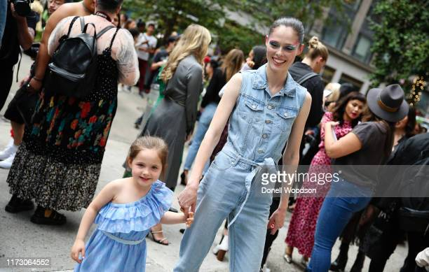 Coco Rocha and her daughter sharing laughs during New York Fashion Week at Gotham Hall on September 07 2019 in New York City
