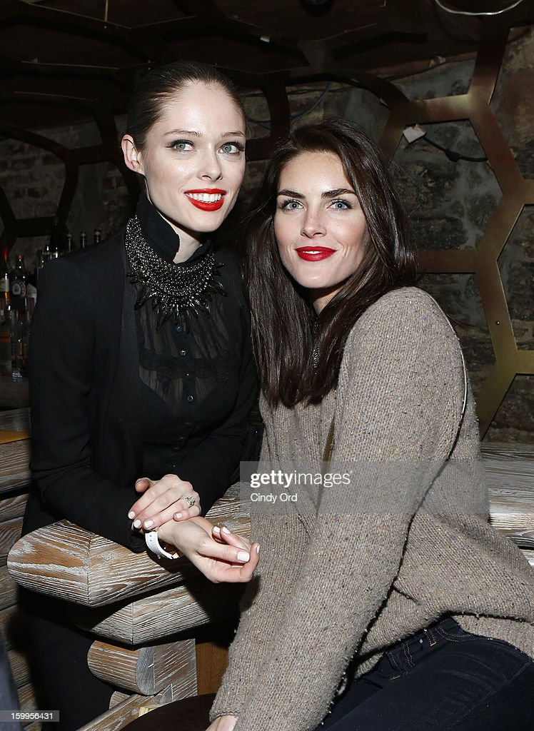 Coco Rocha and Hilary Rhoda attend DuJour Magazine Gala with Coco Rocha and Nigel Barker presented by TW Steel at Scott Sartiano and Richie Akiva's The Darby on January 23, 2013 in New York City.