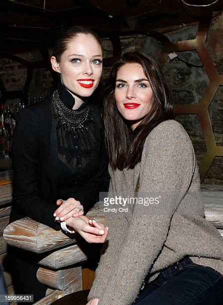Coco Rocha and Hilary Rhoda attend DuJour Magazine Gala with Coco Rocha and Nigel Barker presented by TW Steel at Scott Sartiano and Richie Akiva's...