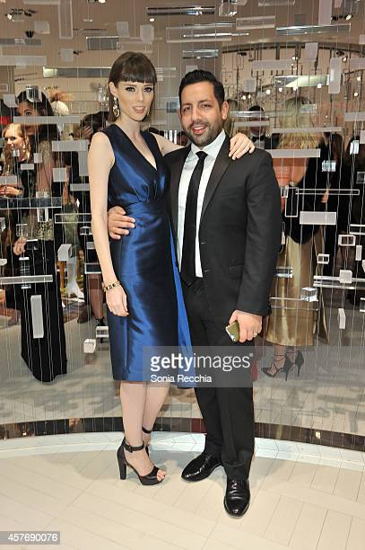 Coco Rocha and husband James Conran attend Hudson's Bay And The Isabella Blow Foundation Present Fashion Blows at The Hudson's Bay on October 22 2014...