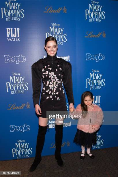 Coco Rocha and Ioni James Conran attend The Cinema Society's screening of Mary Poppins Returns cohosted by Lindt Chocolate at SVA Theatre on December...