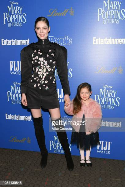 YORK DECEMBER Coco Rocha and Ioni James Conran attend the Mary Poppins Returns hosted by The Cinema Society at SVA Theater on December 17 2018 in New...