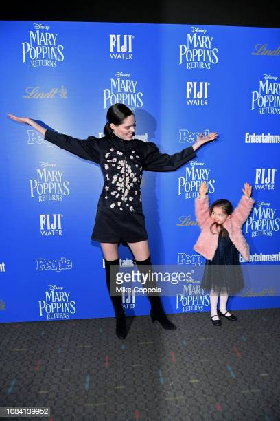 """Coco Rocha and Ioni James Conran attend the """"Mary Poppins Returns"""" hosted by The Cinema Society at SVA Theater on December 17, 2018 in New York City."""