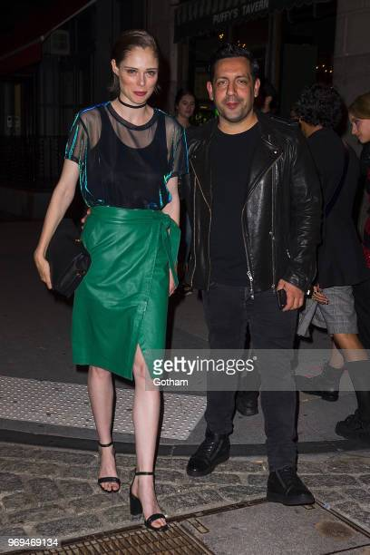Coco Rocha and James Conran are seen in Tribeca on June 7 2018 in New York City