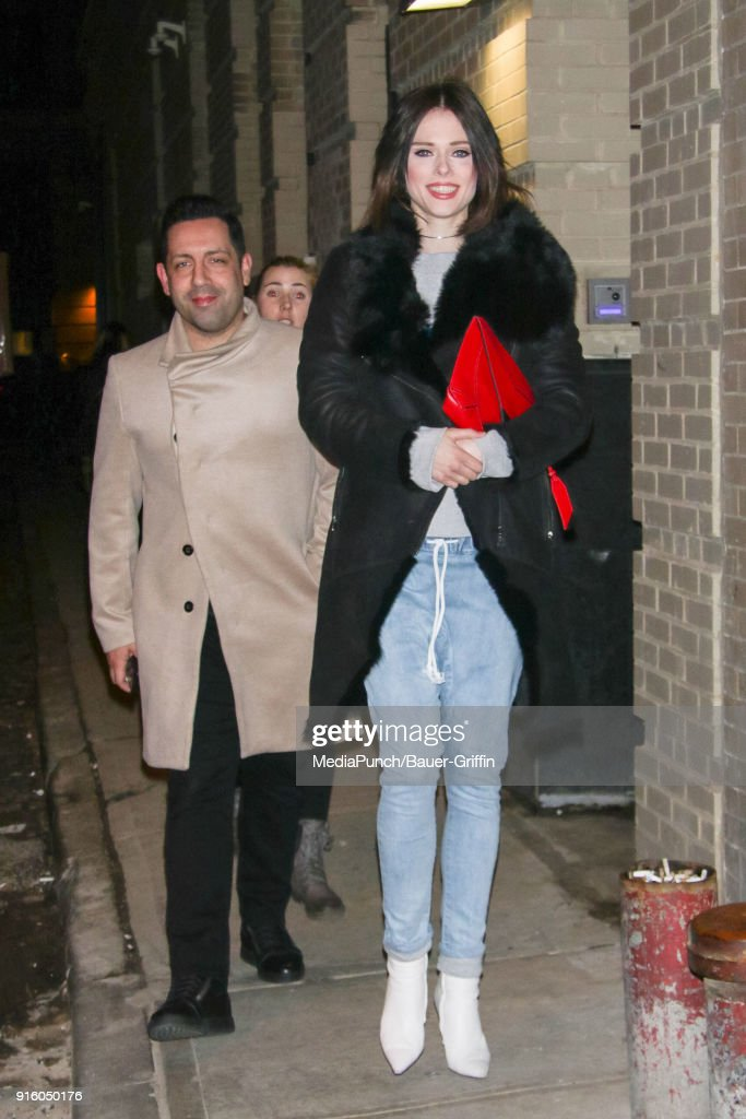 Coco Rocha and James Conran are seen on February 08, 2018 in New York City.