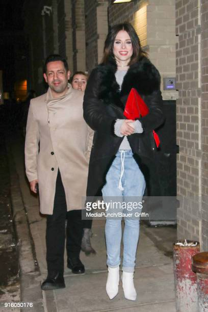 Coco Rocha and James Conran are seen on February 08 2018 in New York City